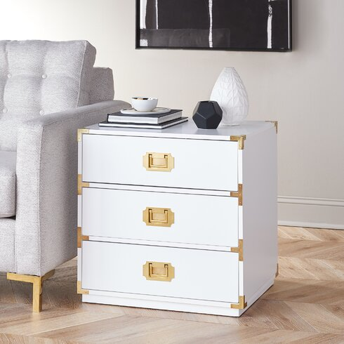 campaign style chest from Modern Furniture