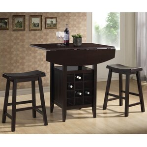 Elida 3 Piece Pub Table Set by Latitude Run