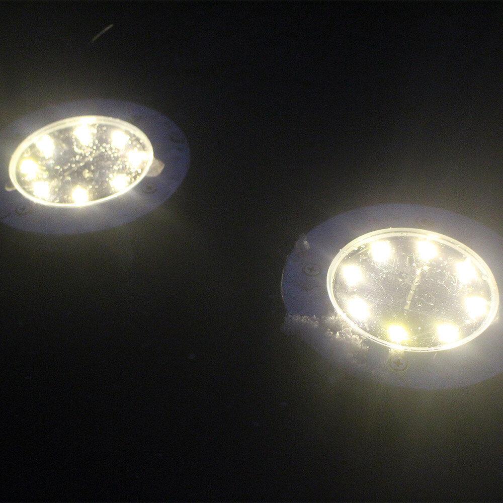 Fluva Silver Black Solar Power Integrated Led Well Light Wayfair