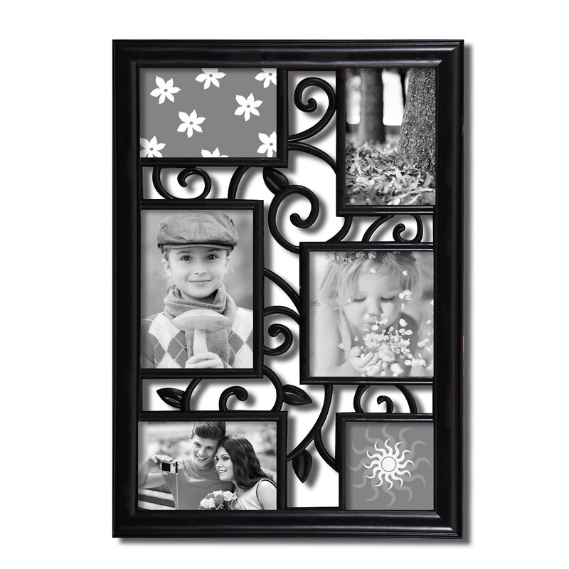 AdecoTrading 6 Opening Decorative Filigree Wall Hanging Collage ...