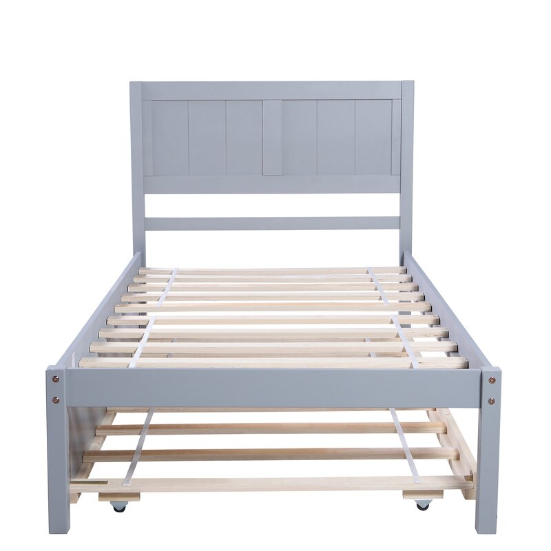 Red Barrel Studio Destinyrose Twin Solid Wood Platform Bed