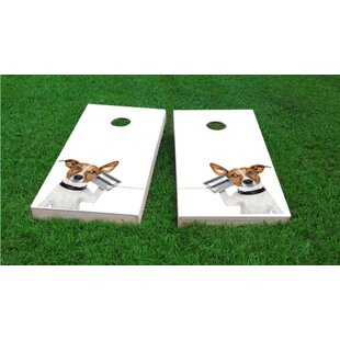 Custom Cornhole Boards Dog Phone Light Weight Cornhole Game Set