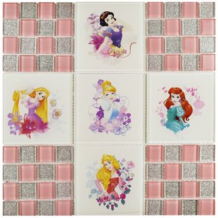 Disney Princess Bathroom Set. Disney Princesses Random Sized Glass Mosaic Tile In Glossy Pink