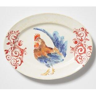 Gather Rooster Medium Oval Decorative Plate  sc 1 st  Wayfair & Decorative Rooster Plates | Wayfair