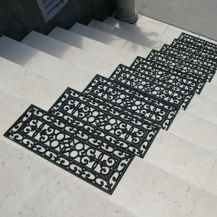 Elegant 6 Piece Regal Rubber Stair Treads Step Mat Set