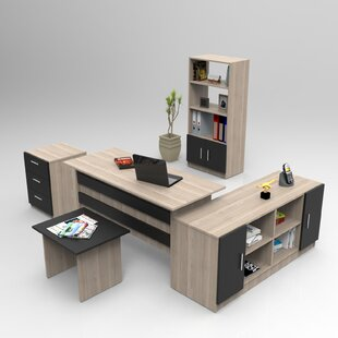 Truxton 5-Piece Standard Desk Office Suite By Ebern Designs