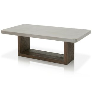 Bellows Concrete Top Coffee Table