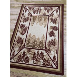 Cadia Pines Red Area Rug