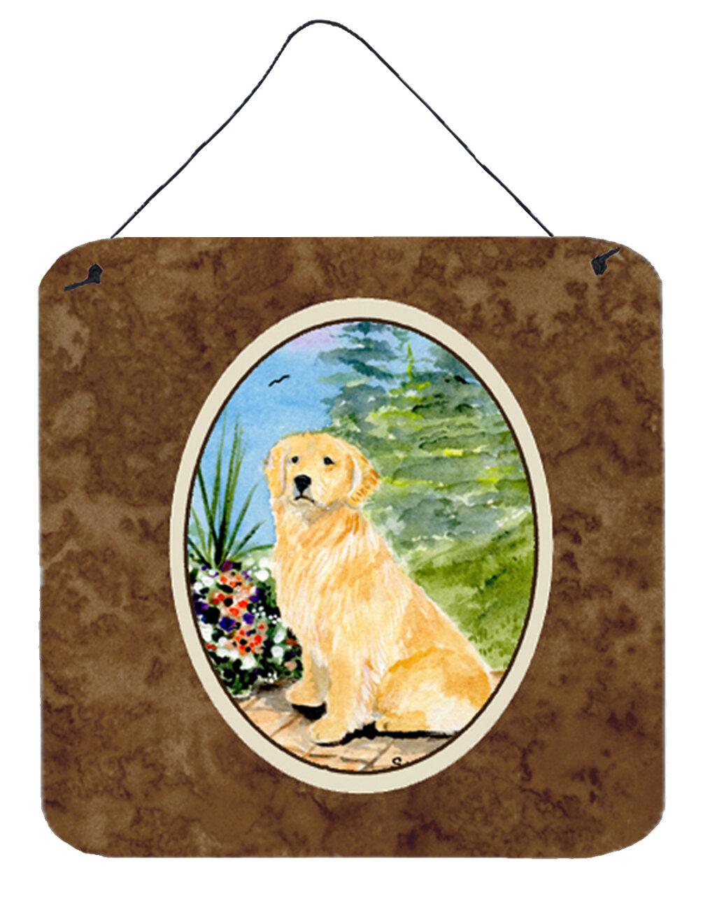 Golden Retriever Painting Print Plaque