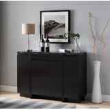 Deon Marble Cabinet Storage Display Sideboard by Wrought Studio™