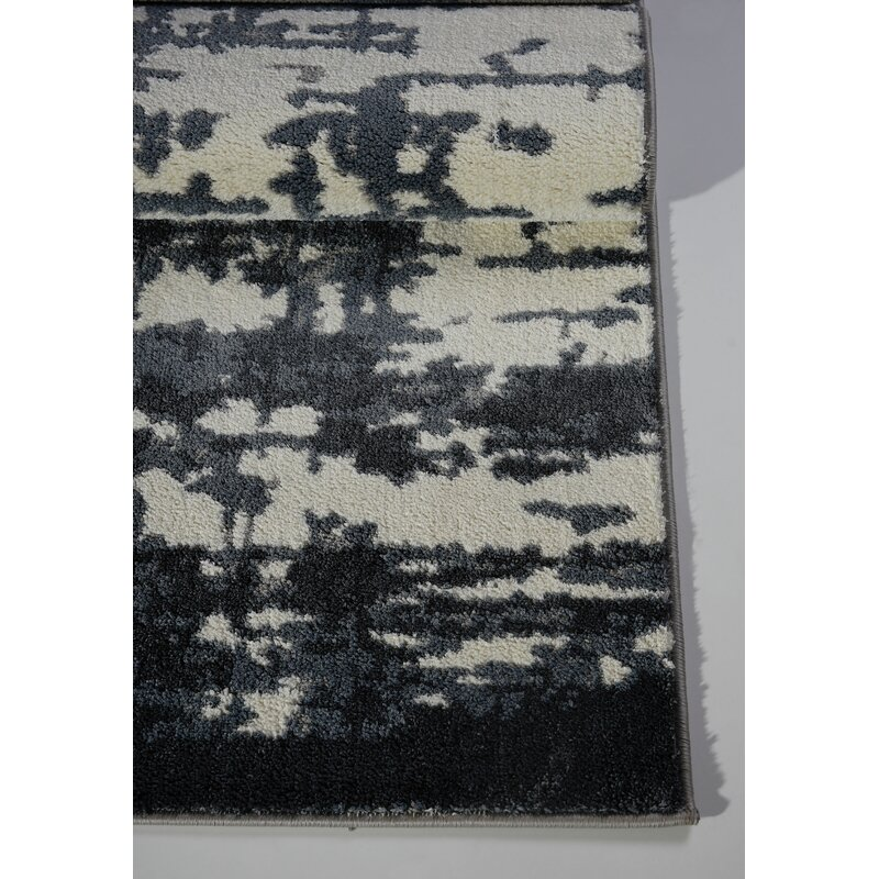 Barrie Grey Ivory Abstract Area Rug