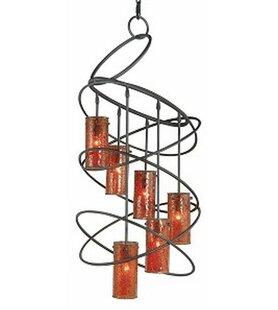 Woodbridge Lighting Loop 6-Light Shaded Chandelier