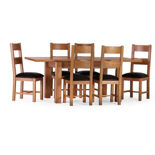 Rebekah Extendable Dining Set With 6 Chairs By August Grove