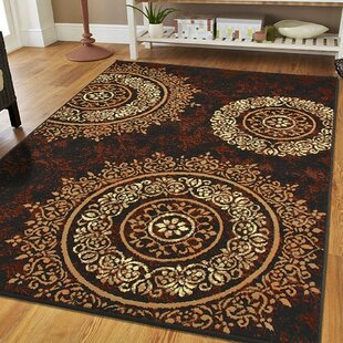 Preiss Luxury Circles Brown Indoor/Outdoor Area Rug