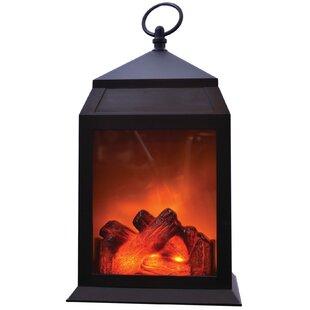 Portable LED Fireplace Plastic Lantern by Charlton Home