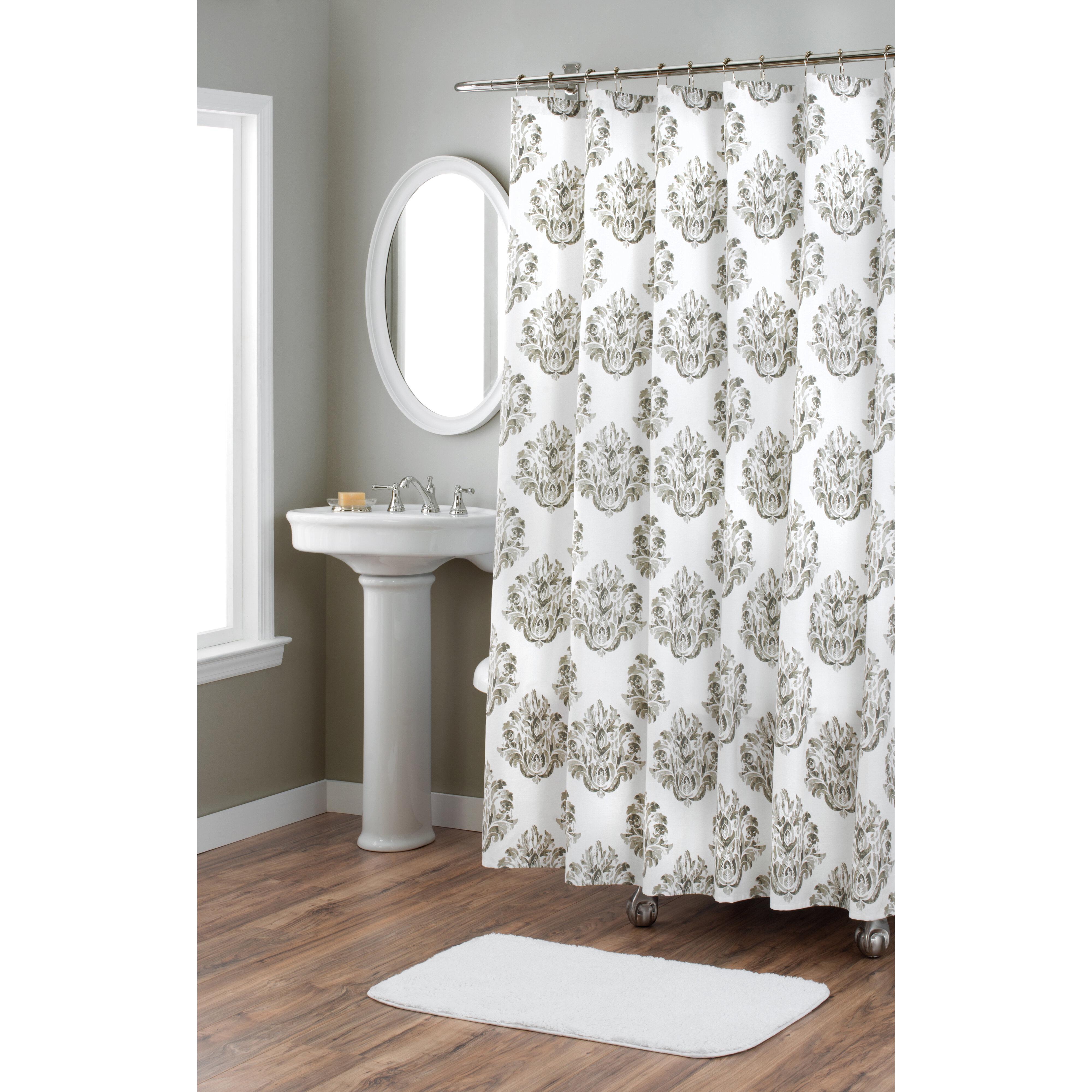 Nicole Miller Damask Cotton Shower Curtain