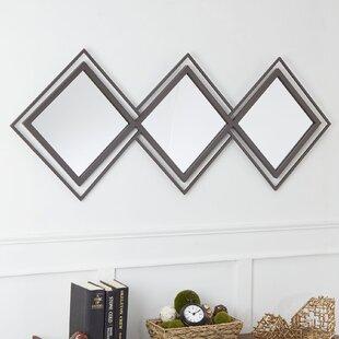 Milan Double Diamond Trio Wall Mirror