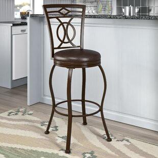 Gravity 30 Swivel Bar Stool Red Barrel Studio