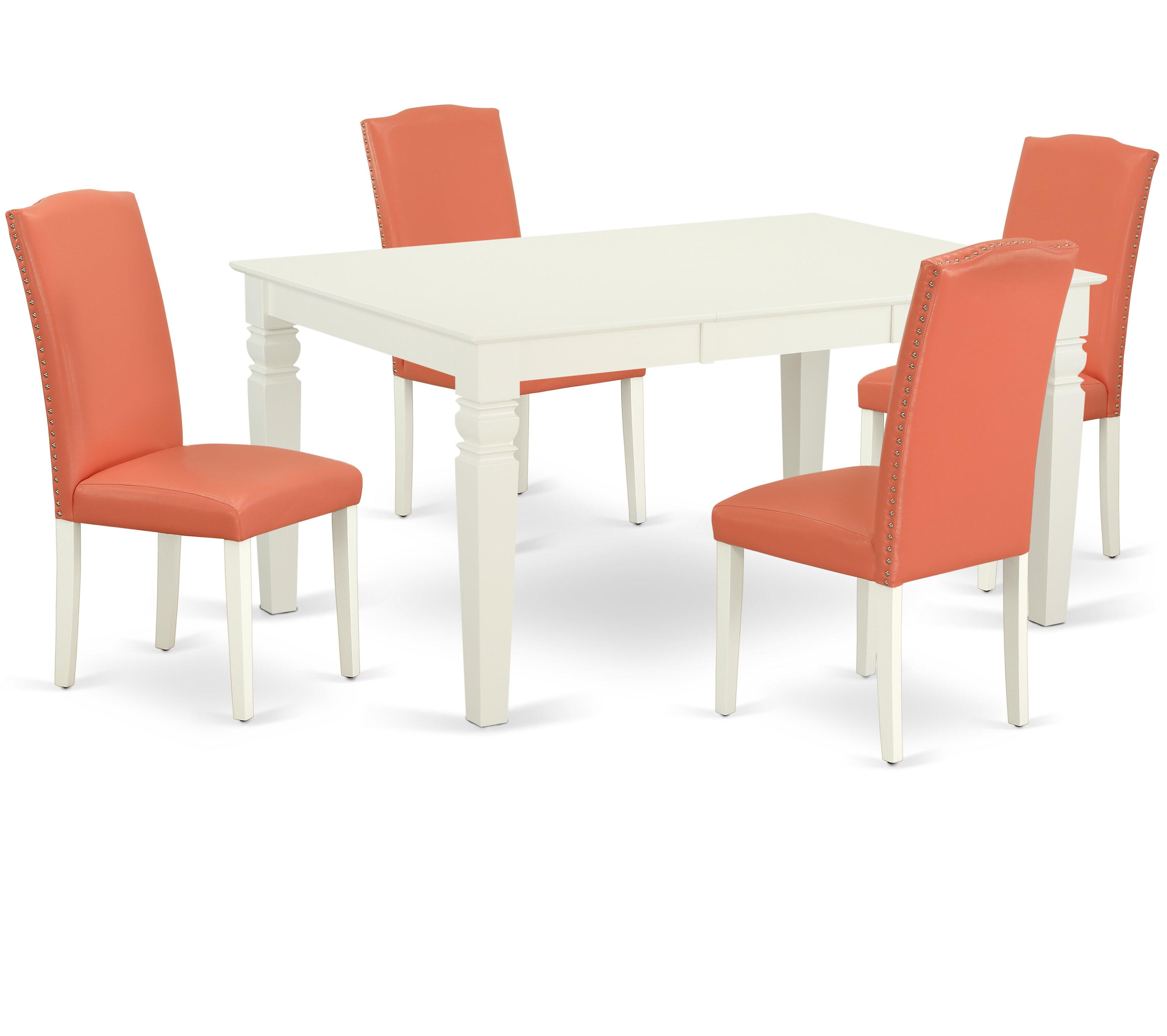Winston Porter Nallely 5 Piece Extendable Solid Wood Dining Set Wayfair