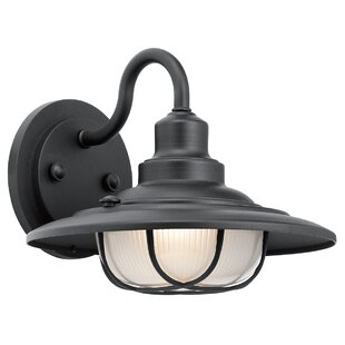 Online Reviews Elizabeth 1-Light Outdoor Barn Light By Breakwater Bay