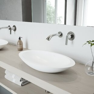 Compare Wisteria Stone Oval Vessel Bathroom Sink with Faucet By VIGO