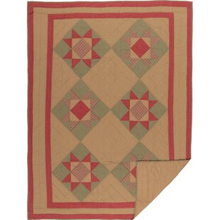 Pearce Single Reversible Natural Holiday Primitive Quilt