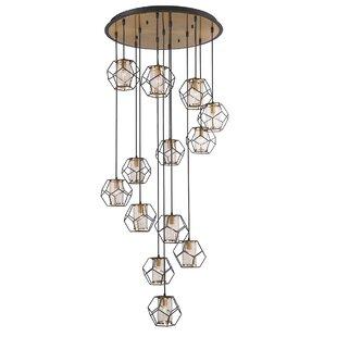 Luker Caged 13-Light Cluster Pendant by Ivy Bronx