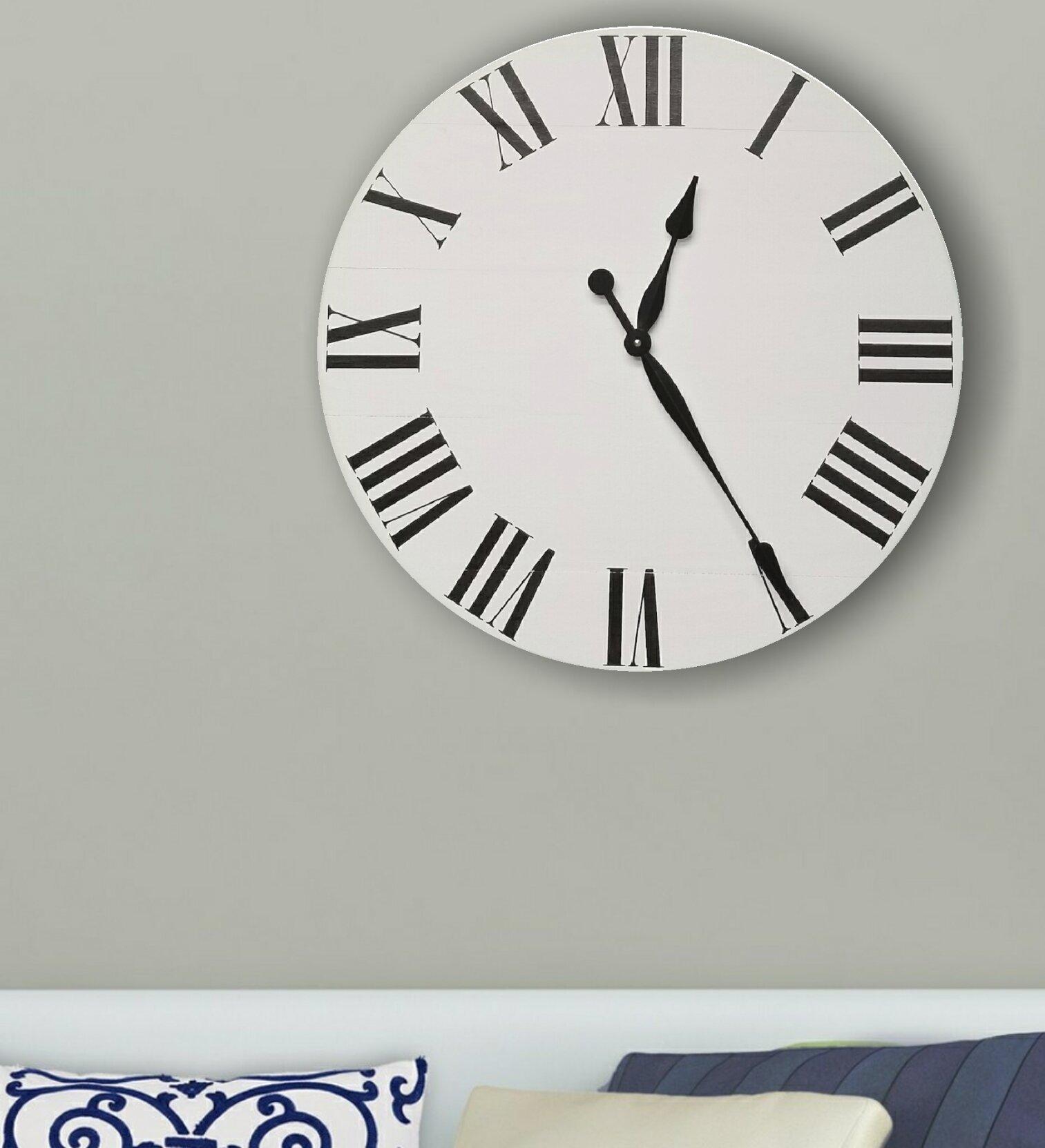 Charlton Home Oversized Eiland Wall Clock Wayfair