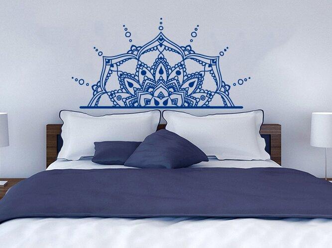 Bloomsbury Market Ellenberger Bedroom Half Mandala Vinyl Wall Decal Reviews Wayfair