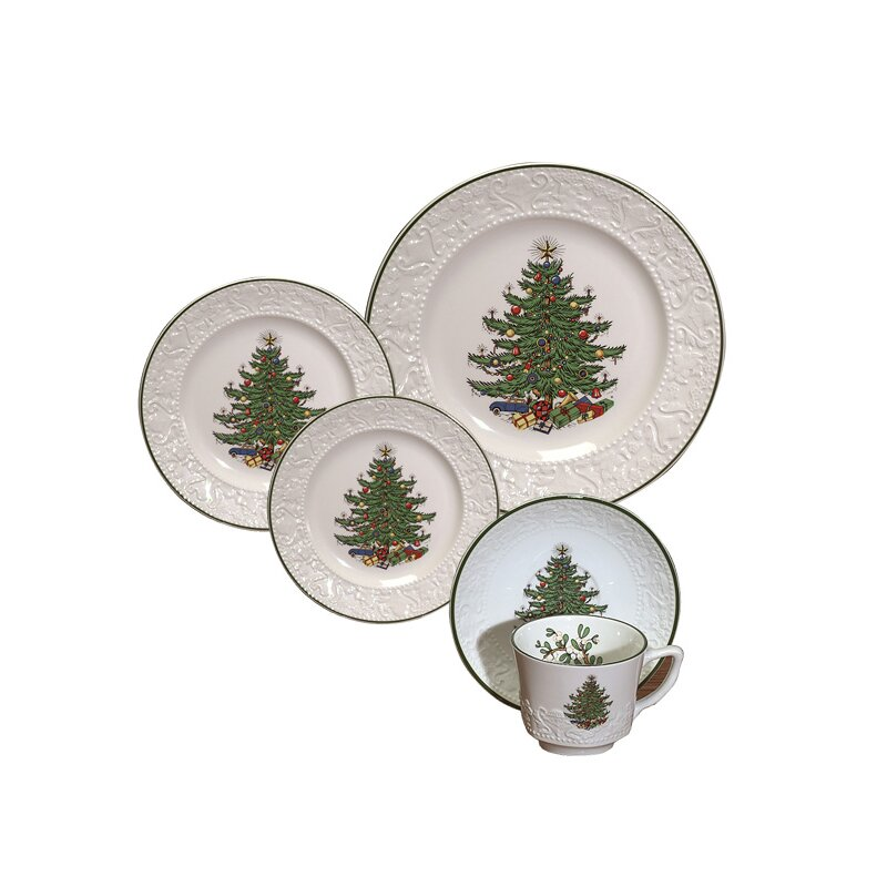 Original Christmas Tree Dinnerware from Wayfair!