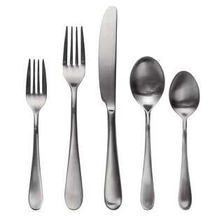 Natura Ice 5 Piece 18/10 Stainless Steel Flatware Set, Service for 1