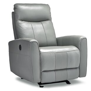 Garver Leather Power Rocker Recliner