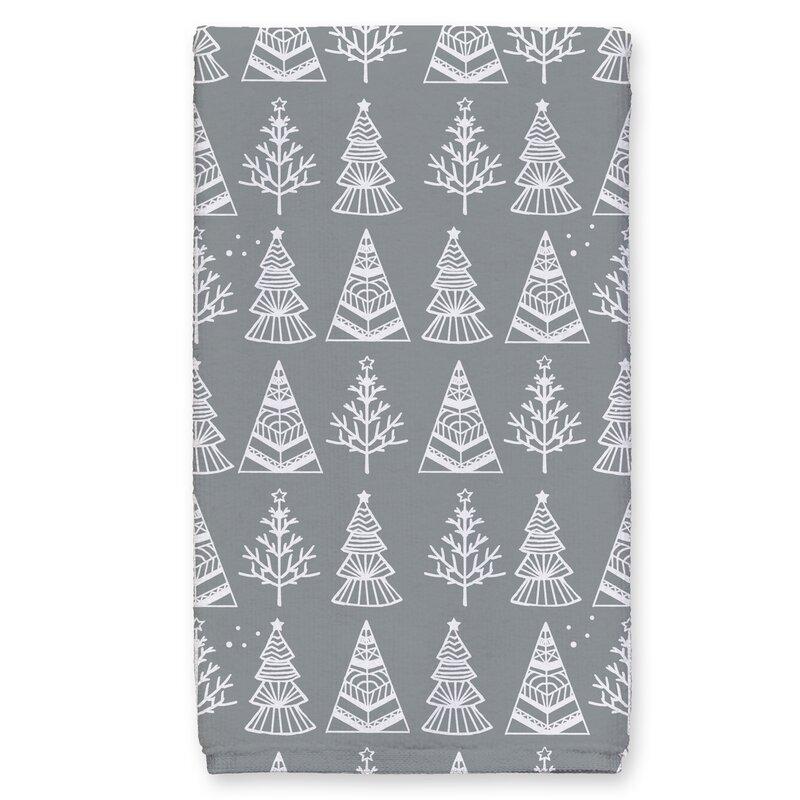 The Holiday Aisle Christmas Tree Sketch Tea Towel Wayfair