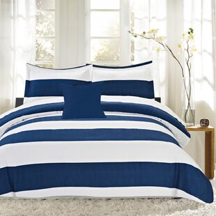 Sweet Home Collection Nautical Stripe 4 Piece Reversible Comforter Set