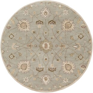 Topaz Pigeon Muted Green Floral Area Rug by World Menagerie