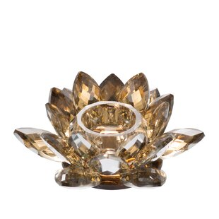 Lotus Glass Votive Holder
