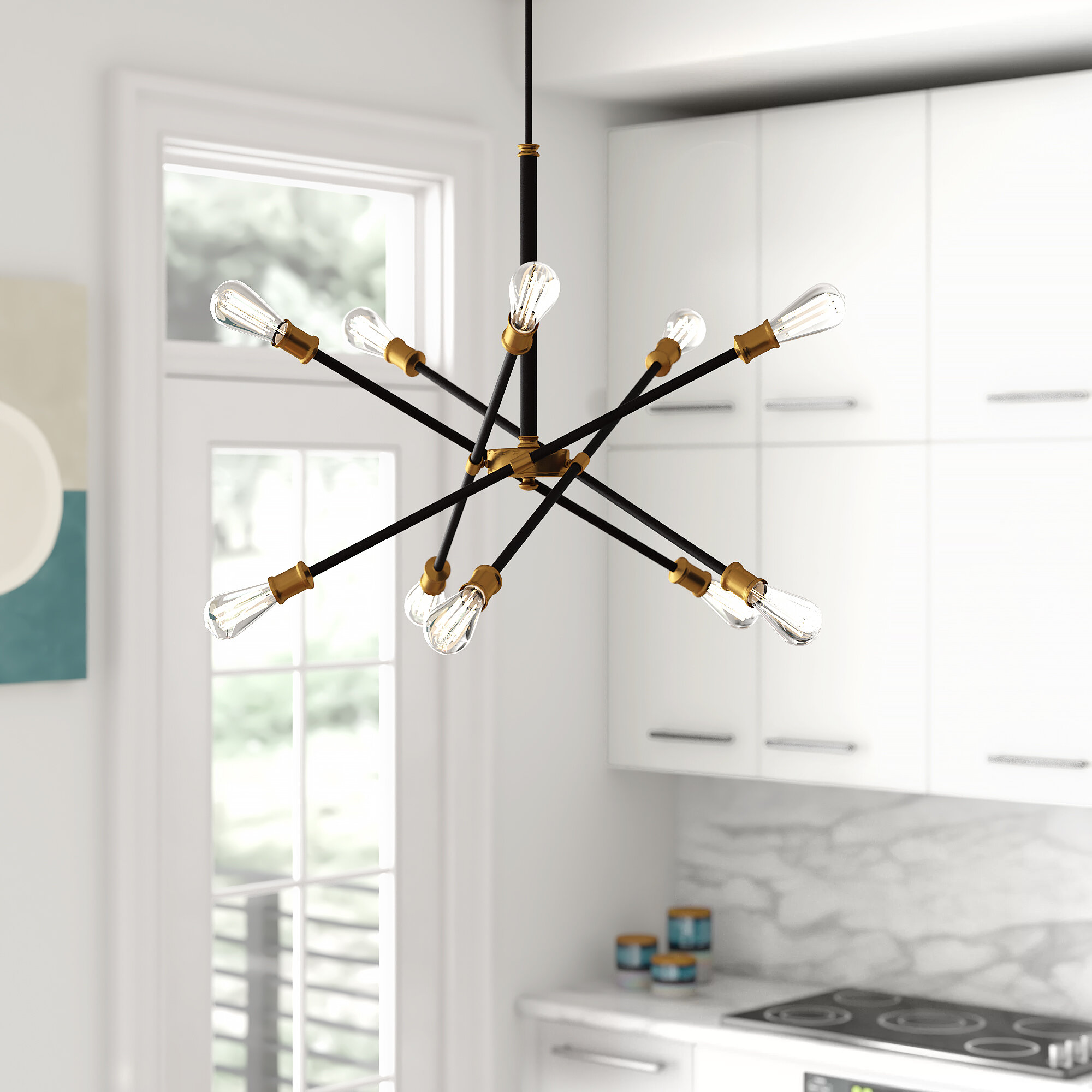 Foundstone Everett 10 Light Unique Modern Linear Chandelier Reviews Wayfair