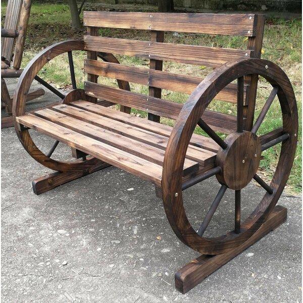 Miraculous Wooden Wagon Wheel Bench Wayfair Short Links Chair Design For Home Short Linksinfo