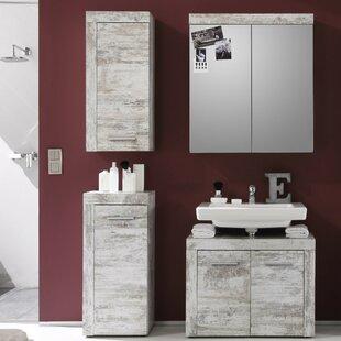 Partone 4 Piece Bathroom Storage Furniture Set With Mirror By Mercury Row