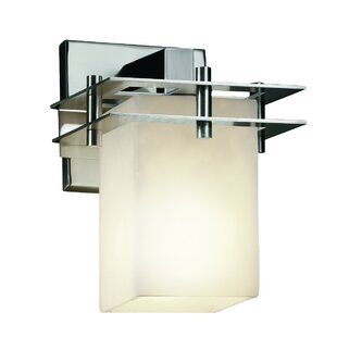 Rieth Square 1-Light Armed Sconce by Loon Peak