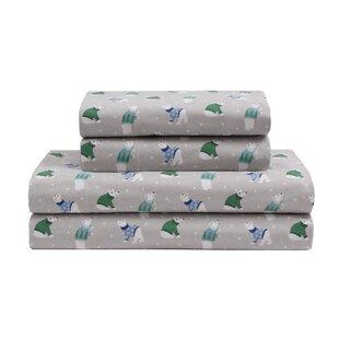 Cecilia Winter Nights Cotton Flannel Sheet Set