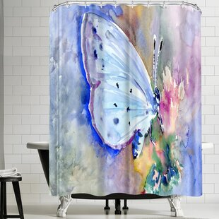 Suren Nersisyan Holly Blue Butterfly II Shower Curtain