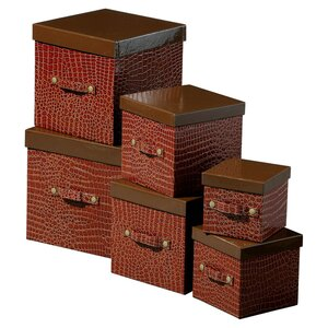 6-tlg. Aufbewahrungsboxen-Set Mock Croc von All..