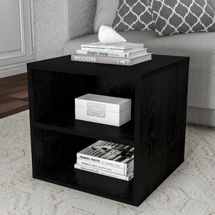 Reviews Au Cube End Table by Wrought Studio