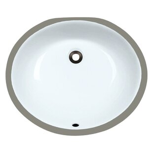 Affordable Price Vitreous China Oval Undermount Bathroom Sink with Overflow ByMR Direct