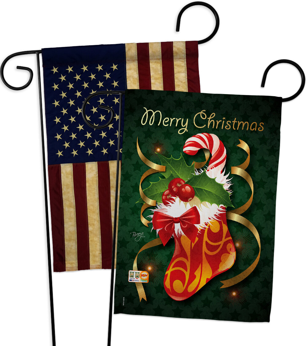 Breeze Decor 2 Piece Xmas Stocking Impressions Decorative 2 Sided Polyester 19 X 13 Garden Flag Set Wayfair