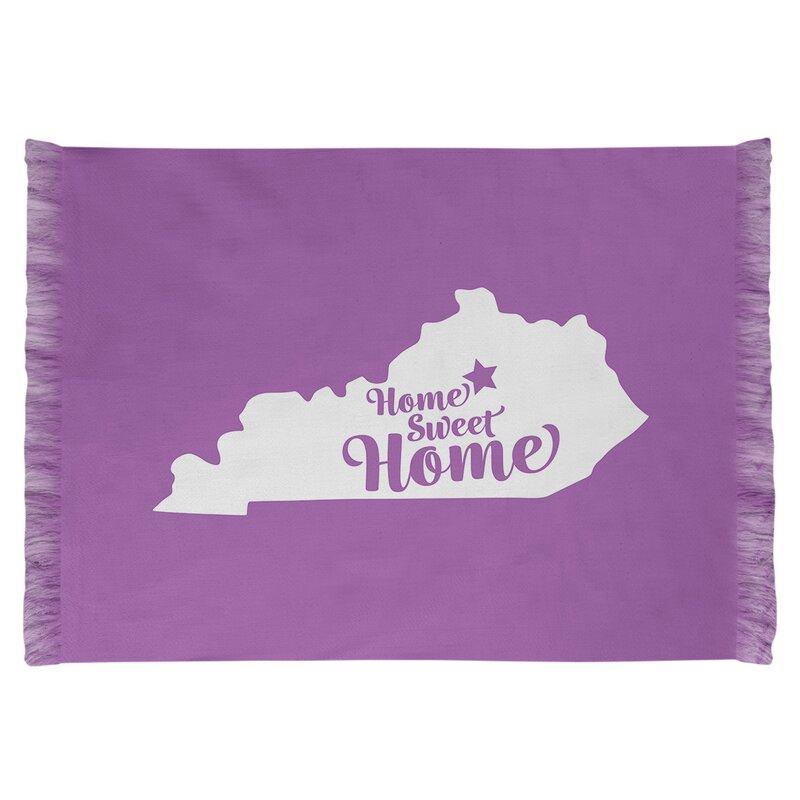 East Urban Home Home Sweet Lexington Purple Area Rug Wayfair