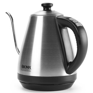 Aroma 1 Qt. Stainless Steel Electric Tea Kettle