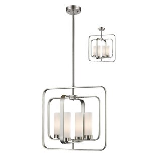 Mercer41 Kewdale 4-Light Square/Rectangle Chandelier