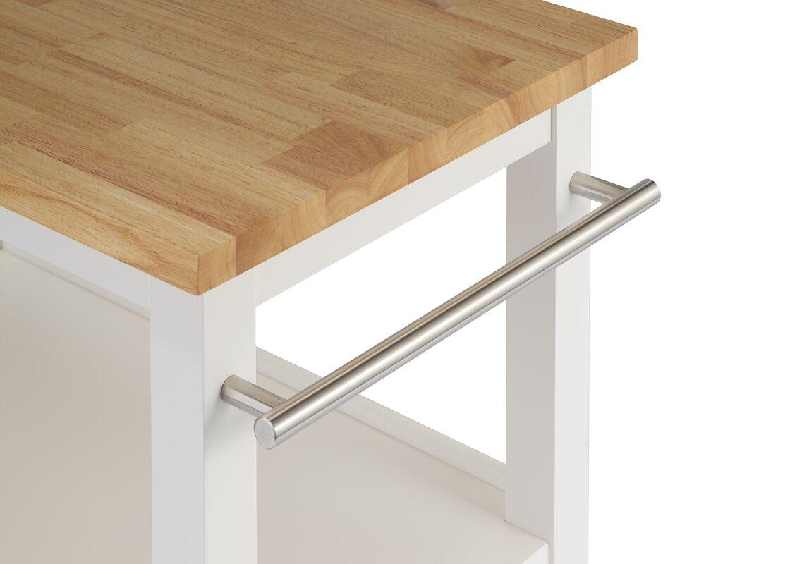 Andover Mills Raabe Kitchen Cart with Wood Top & Reviews | Wayfair
